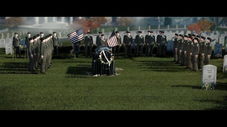 L'esercito di cloni Statunitensi commossi dalla morte del loro eroe