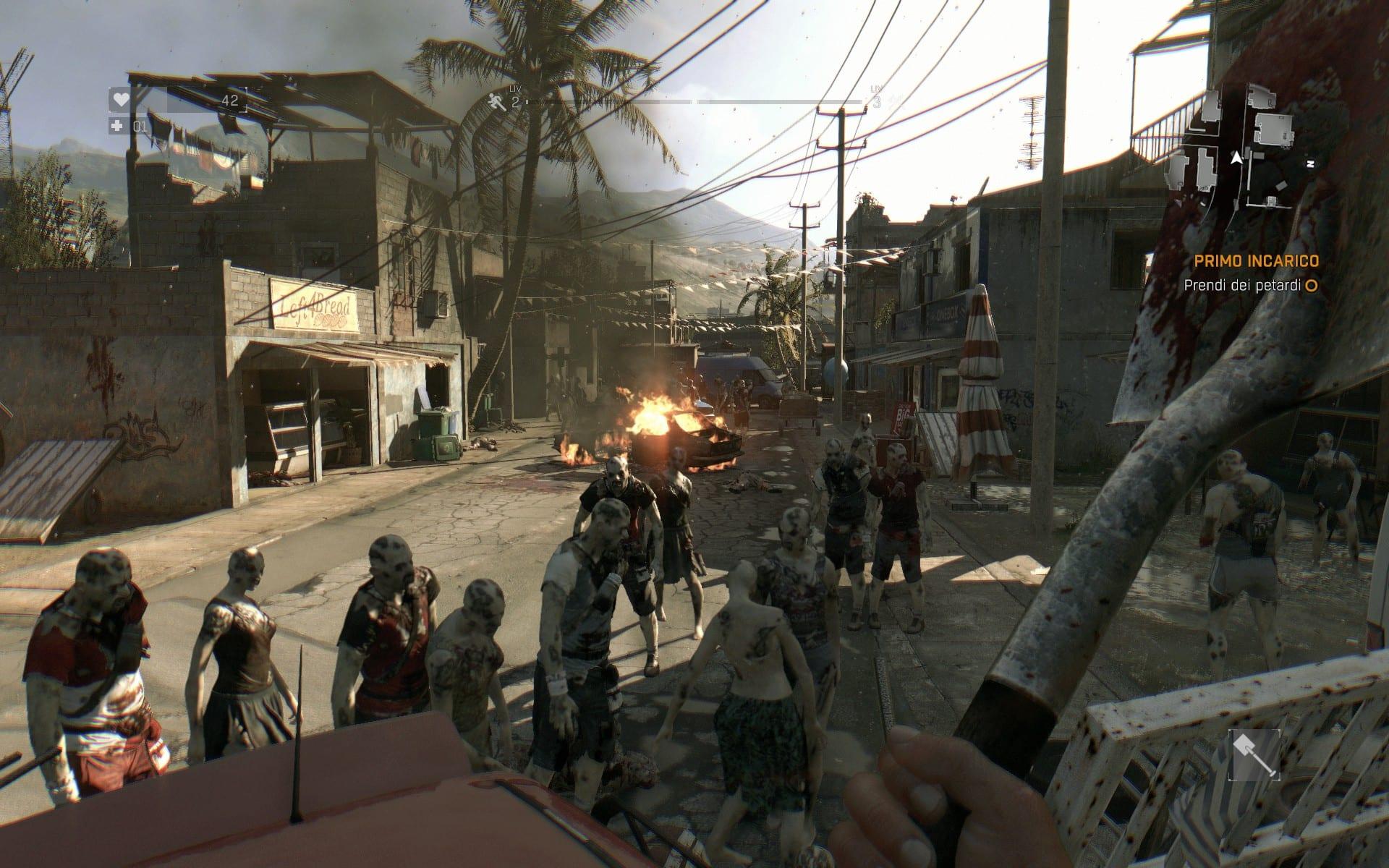 La quantità di zombie presenti in certe strade è veramente alto!