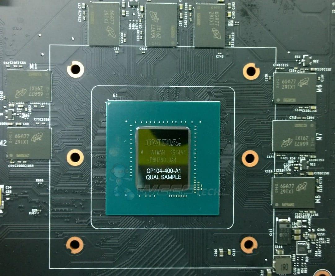 NVIDIA Pascal GeForce GTX 1080 GP104-400 in foto, usa le GDDR5X 2