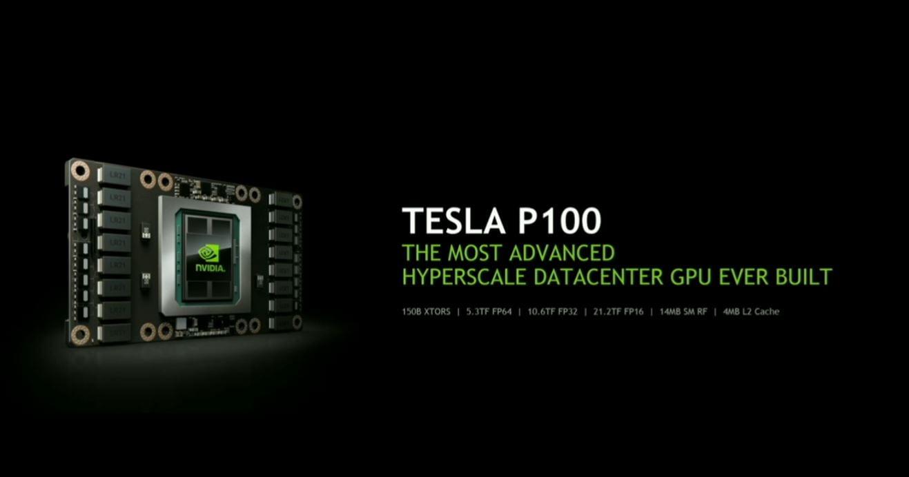 NVIDIA Pascal P100 - 21.2 teraflops, 16nm FinFET, HBM2, NVLink 1