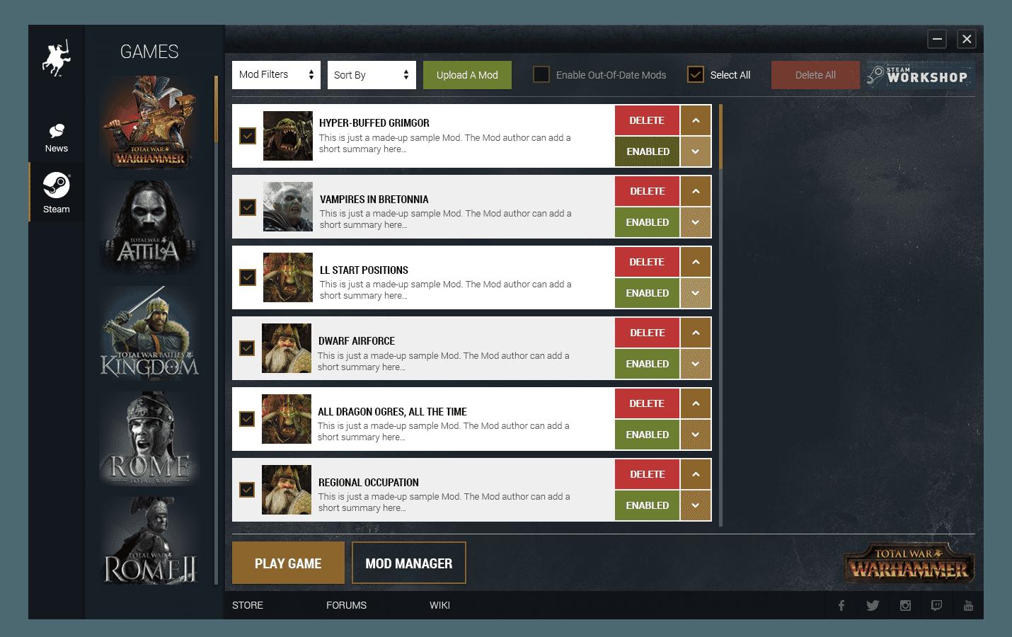Total War: WARHAMMER - Supporto alle Mod & Steam Workshop dal lancio