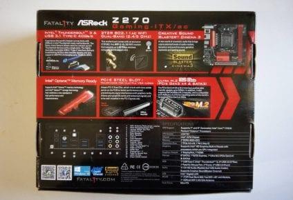 ASRock Z270 ITX recensione, ASRock FATAL1TY Z270 GAMING-ITX/AC – Recensione