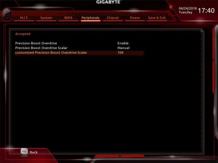 gigabyte x470 bios 696x522 - Gigabyte X470 Aorus Gaming 7 WiFi - Recensione