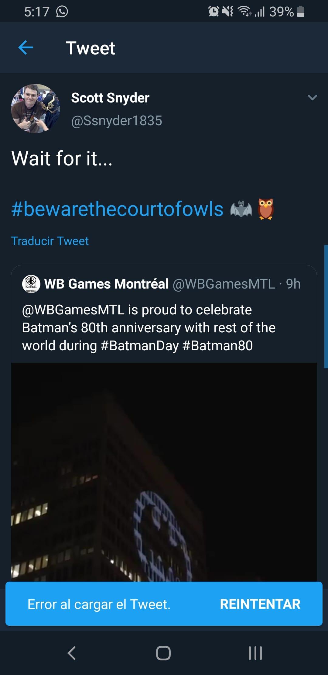 Pare che la Corte dei Gufi sarà presente nel prossimo gioco di Batman