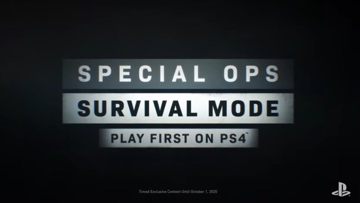 , La modalità Survival di Spec Ops in Modern Warfare sarà esclusiva PS4 per un anno