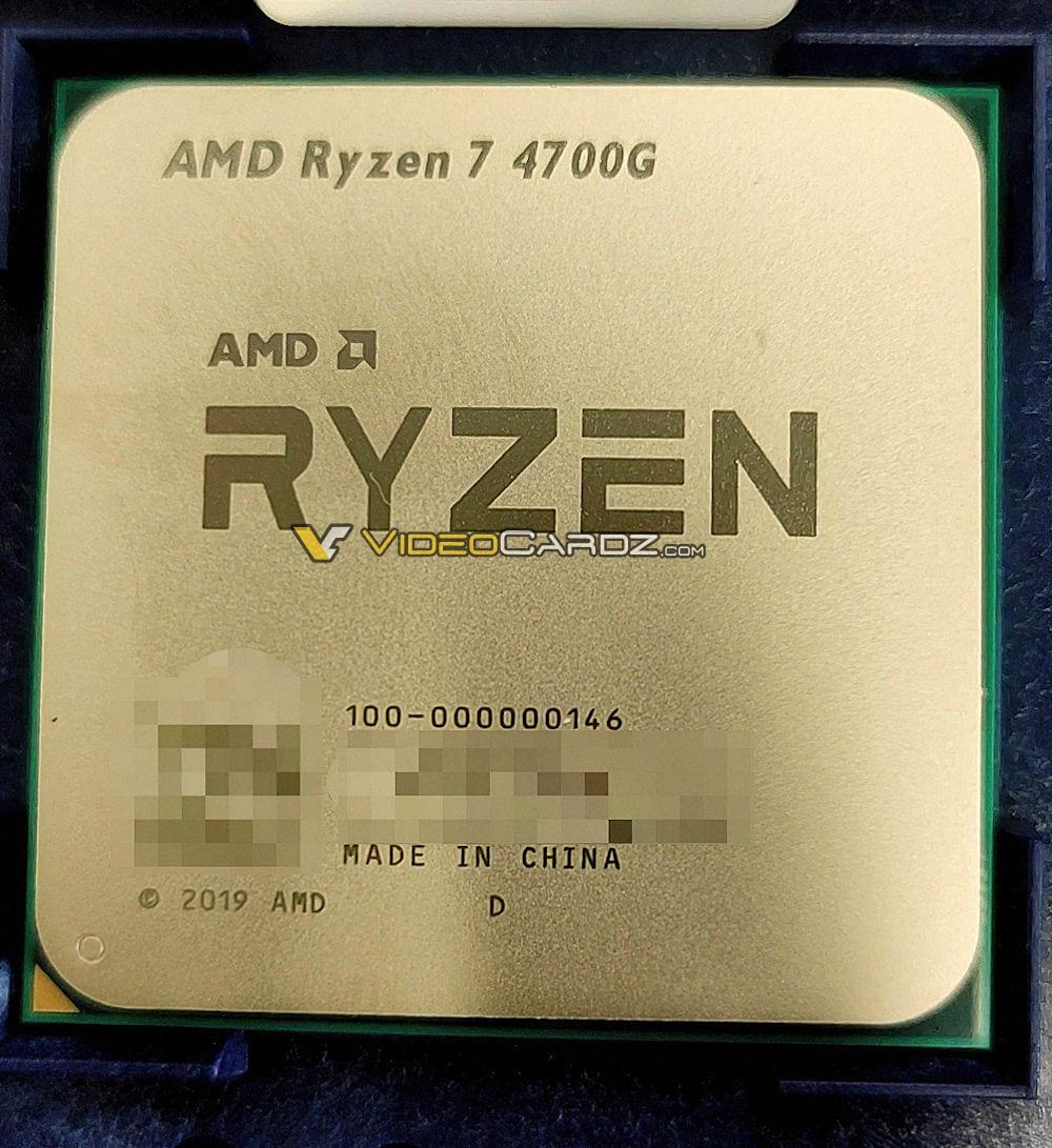 AMD Ryzen 7 4700G, la nuova APU a 8 core – Foto e specifiche